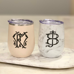Stemless Wine Tumbler with Straw