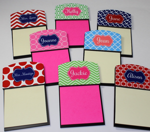 Personalized Custom Sticky Note Holders