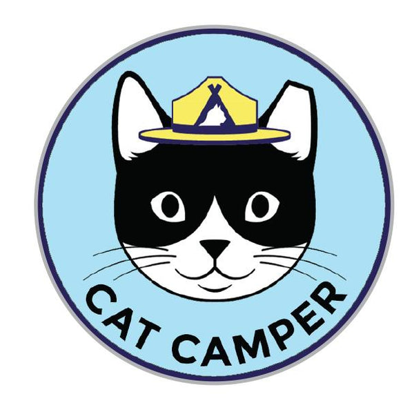 "1"" Cat Camper Enamel Pin"