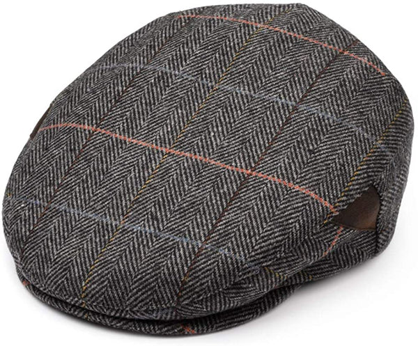 Men's Gray Newsboy Cap - front view