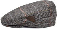 Men's Gray Driving Cap - side view