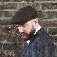 Mens Brown  Gatsby Cap - on model