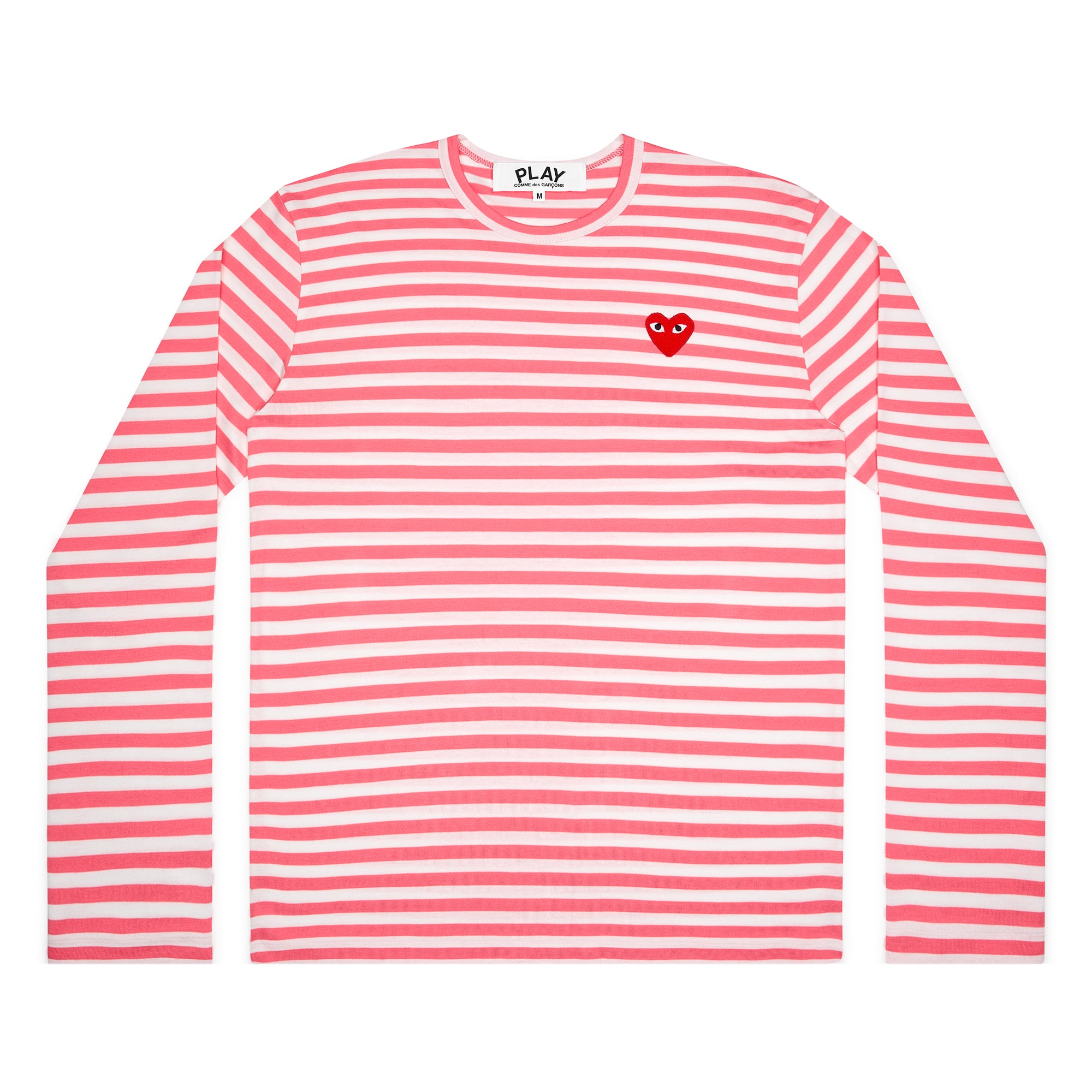 Play Comme des Garçons Bright Striped Long Sleeve (Pink)