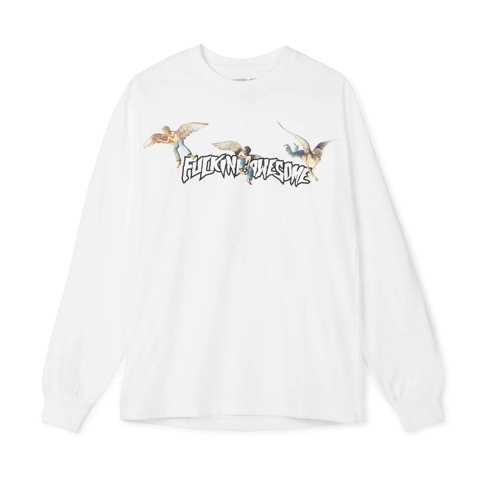 Fucking Awesome Angel Stamp L S Tee White Dsml E Shop