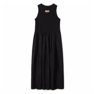 Uma Wang Cotton Empire-Line Dress (Black)