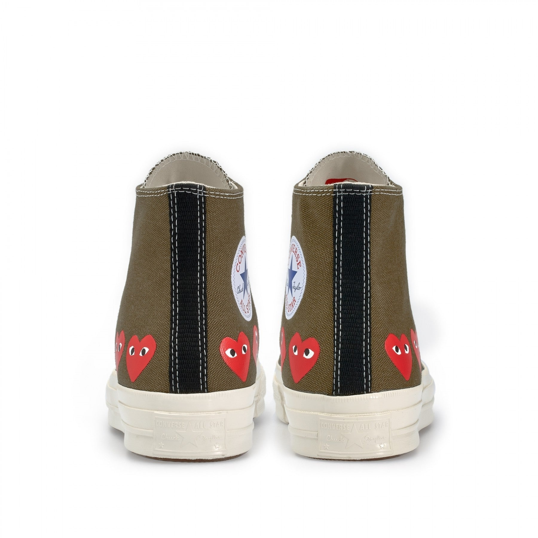 Play Converse Multi Heart Chuck Taylor High Top (Khaki)