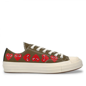 Play Converse Multi Heart Chuck Taylor Low Top (Khaki)