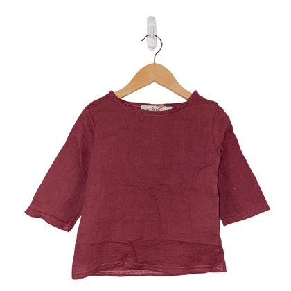Ally Maroon Tops - Jenaca & Co
