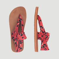 Ditsy Wrap Sandals | Red With
