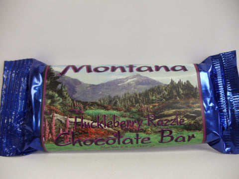 Montana Huckleberry Razzle Chocolate Bar