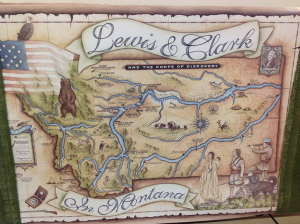 Montana Lewis and Clark Map