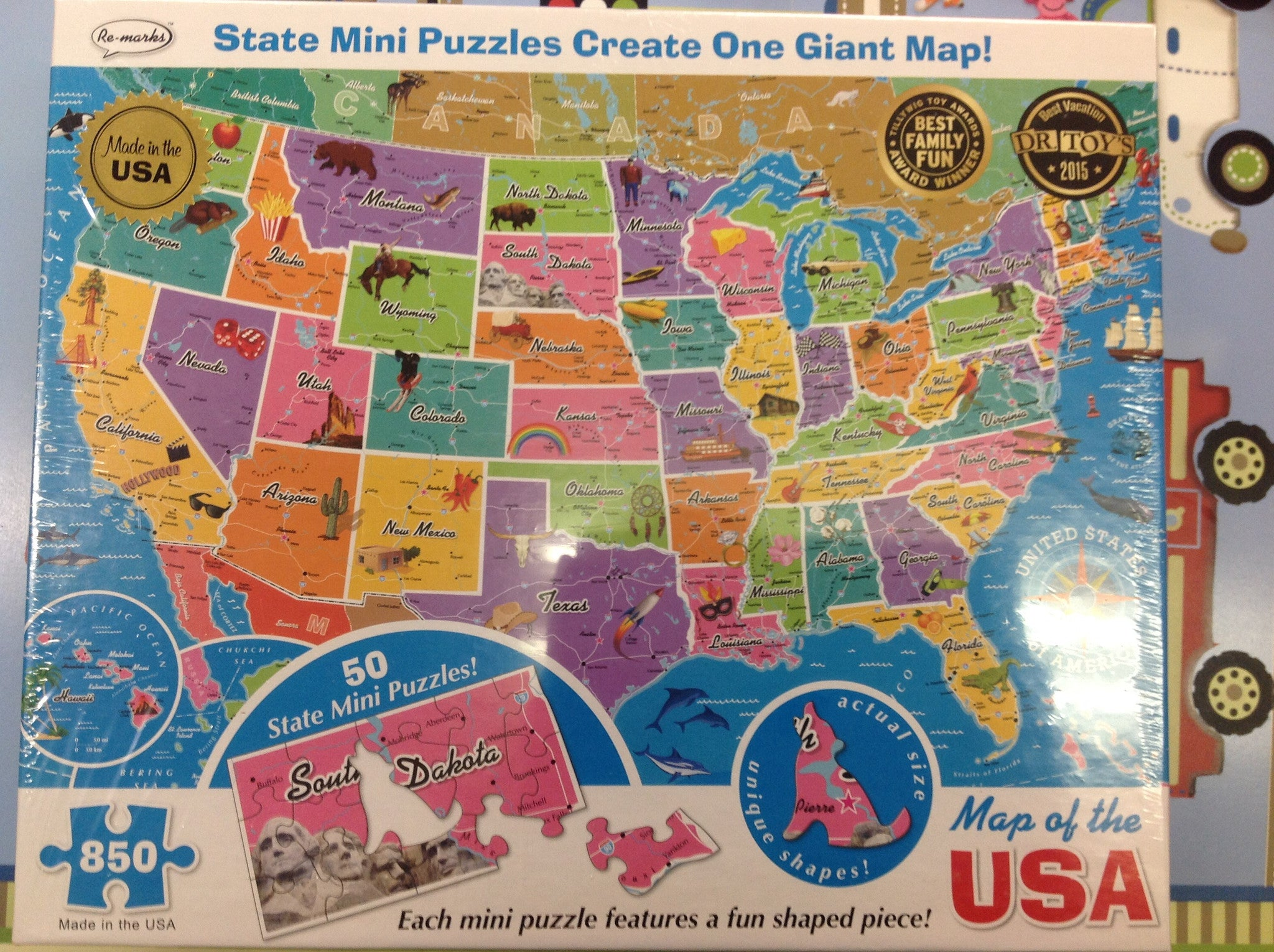 Usa State Map Puzzle 850pc Buymt Com