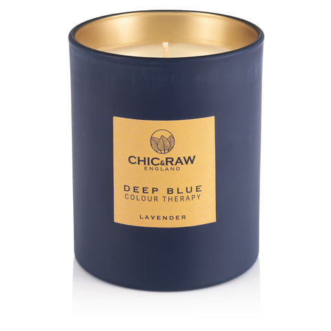 Deep Blue Colour Therapy Candle