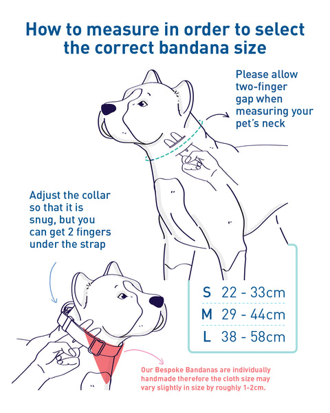 Pet Bandana Size Guide
