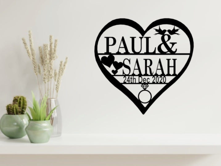 Engagement - Hearts and Love Birds Design