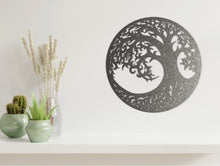 Load image into Gallery viewer, Tree of Life 2 Wall Art in Black Speckle Grey from Monea Metal Design