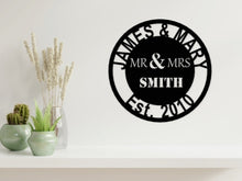 Load image into Gallery viewer, Wedding/Anniversary Design - MR & MRS in Black - from Monea Metal Design