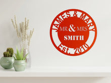 Load image into Gallery viewer, Wedding/Anniversary Design - MR & MRS in Copper - from Monea Metal Design