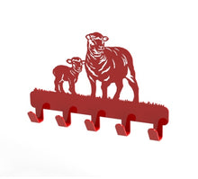 Load image into Gallery viewer, Sheep Design Coat or Key Hook in Red from Monea Metal Design