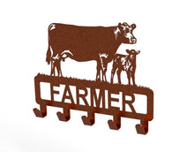 Load image into Gallery viewer, Customised Cow and Calf Design Coat or Key Hook in Copper from Monea Metal Design