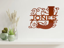 Load image into Gallery viewer, Letter Monogram 2 Wall Art in Copper - from Monea Metal Design