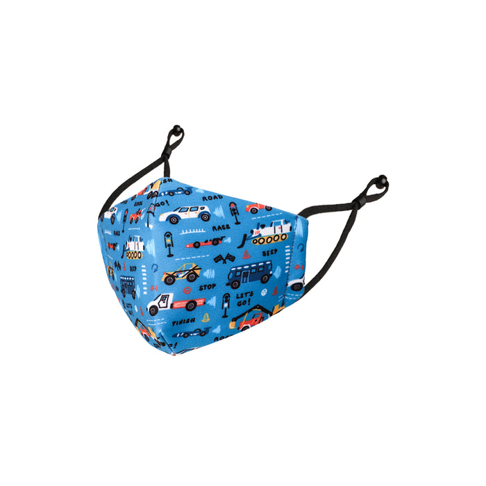 Reusable Kids Fabric Face Masks With Adjustable Nose Clip, Washable