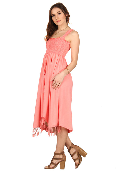 Fringe Dress Ruffle Strap