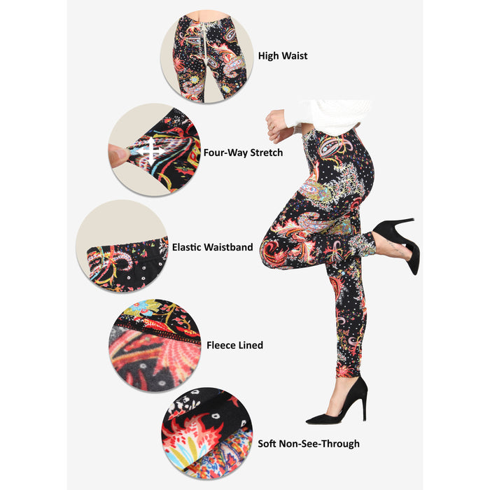 Printed Fleece Leggings