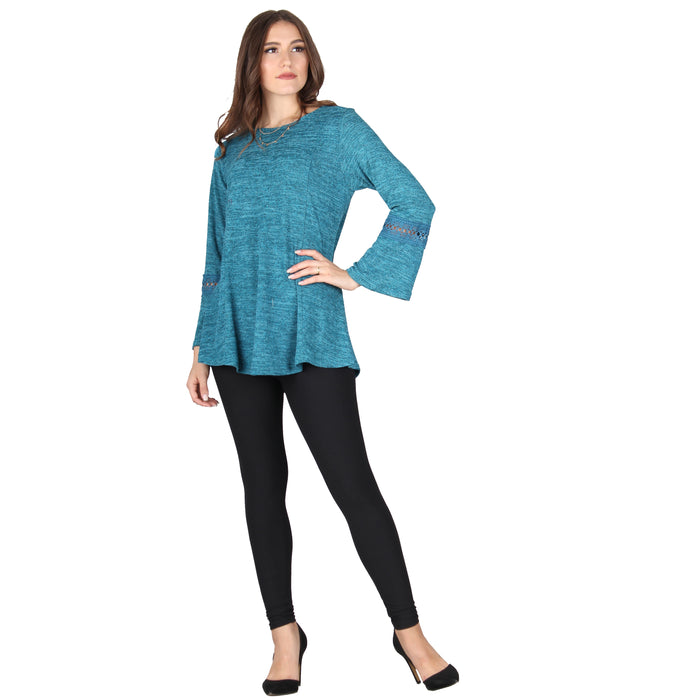 Button Back Keyhole Tunic