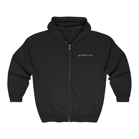 National Tax Office Logo Embroidered Zip Up Hoodie