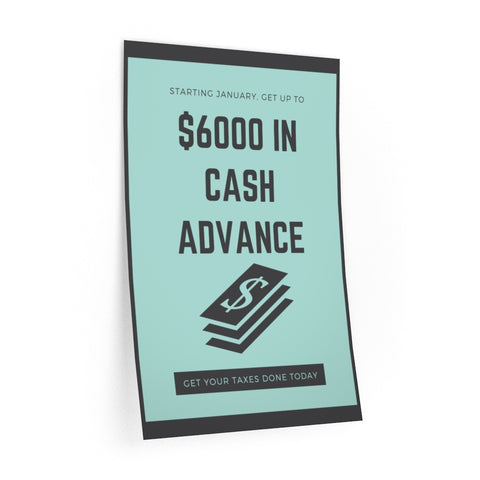 $6K IN CASH ADVANCE (WALL DECAL)