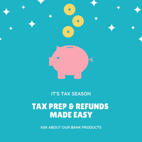 TAX PREP & REFUNDS MADE EASY (INSTAGRAM POST)