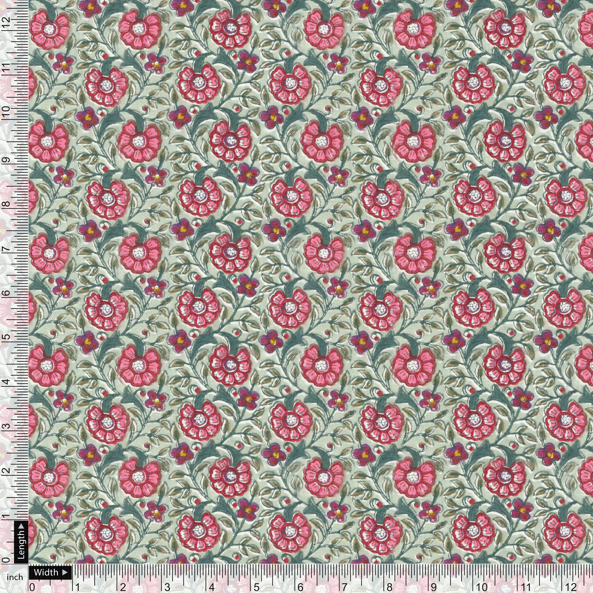 Beautiful Floral Ditzy Pattern Digital Printed Fabric - Wholesale FAB VOGUE