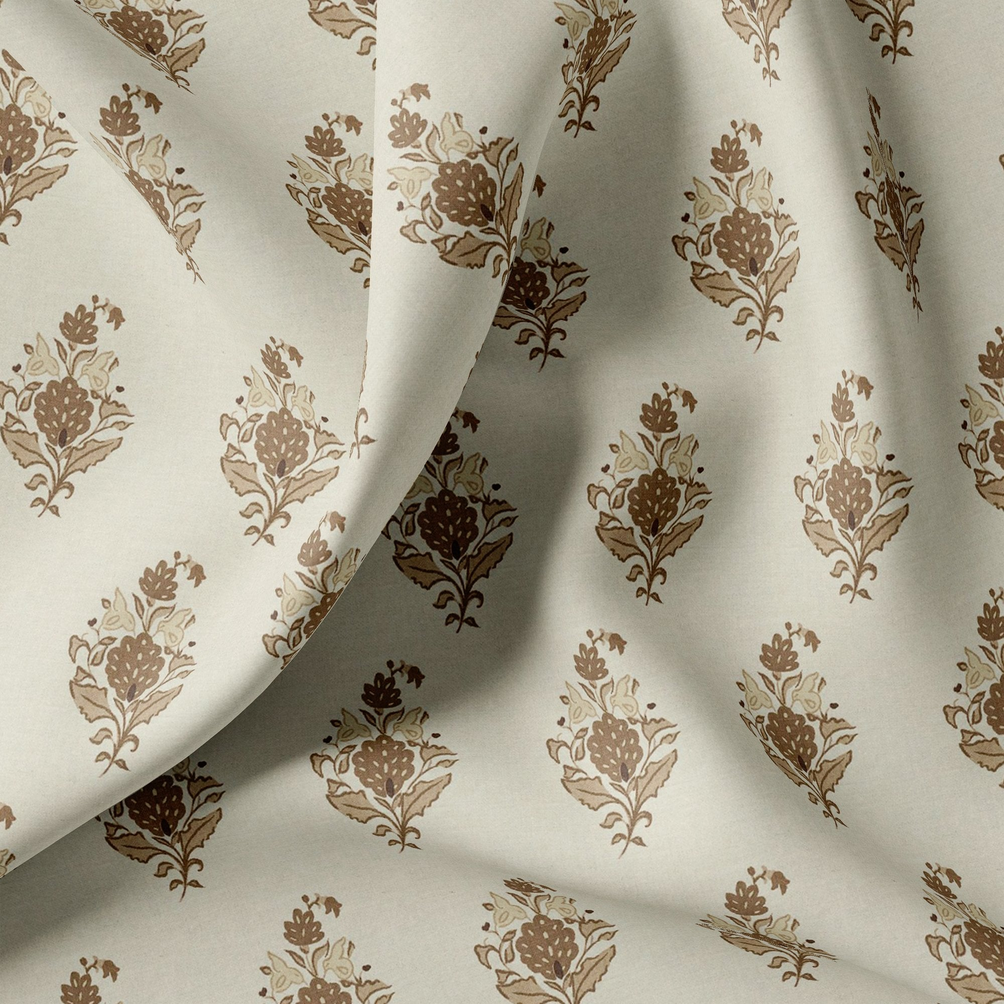 Seamless Flower Pattern Digital Printed Fabric - FAB VOGUE Studio