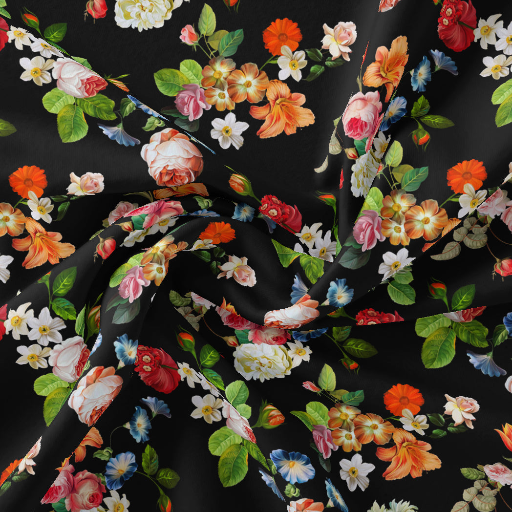 Liberty Small Floral Flower Digital Printed Fabric