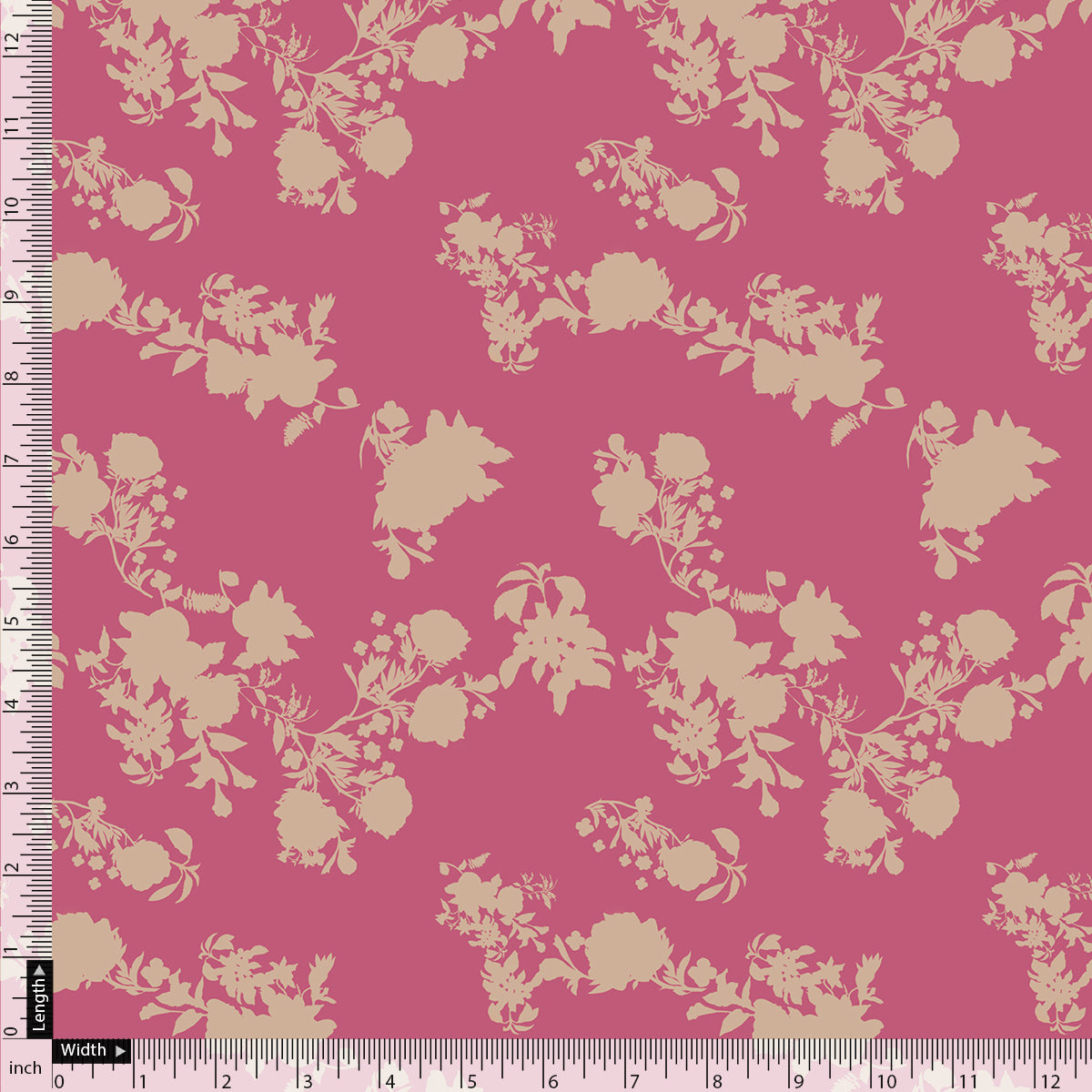 Vintage Old Spoted Flower Digital Printed Fabric