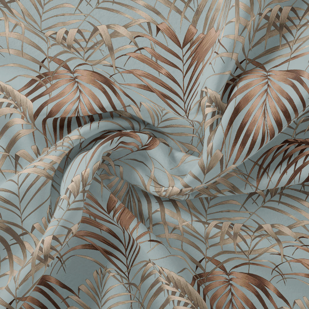 Tropical Garden Leaves Digital Printed Fabric