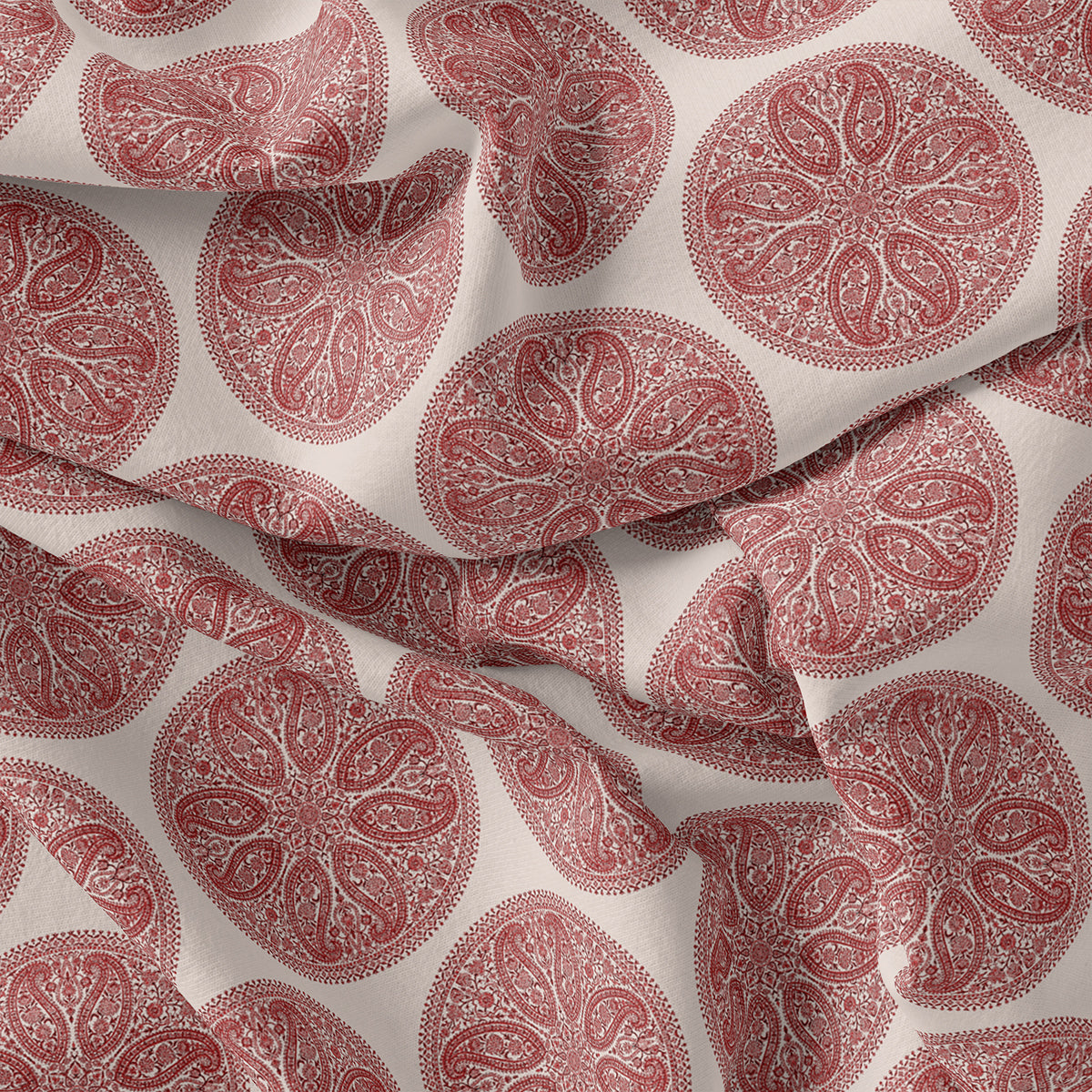 Oriental Paisley Patterns Digital Printed Fabric