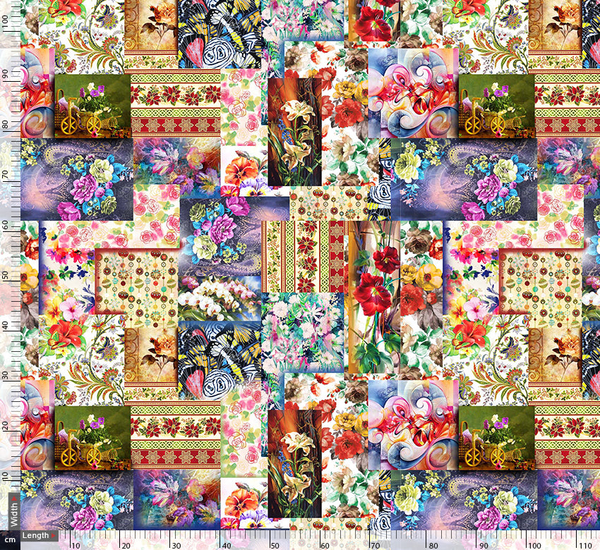 Floral Photographic Repeat Digtal Printed Fabric