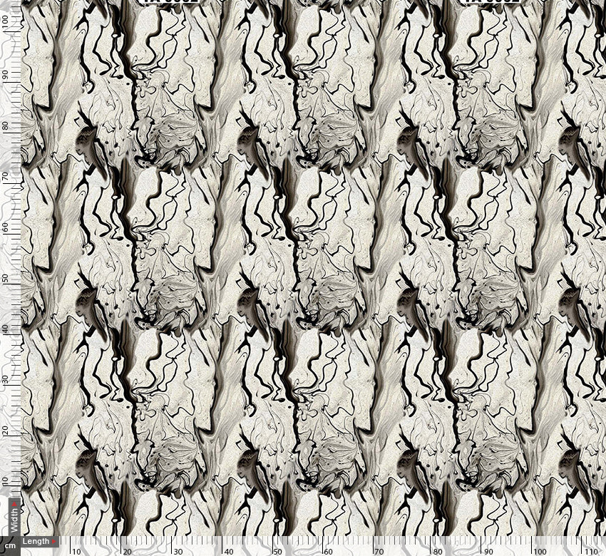 Grey Lequid Art Digtal Printed Fabric
