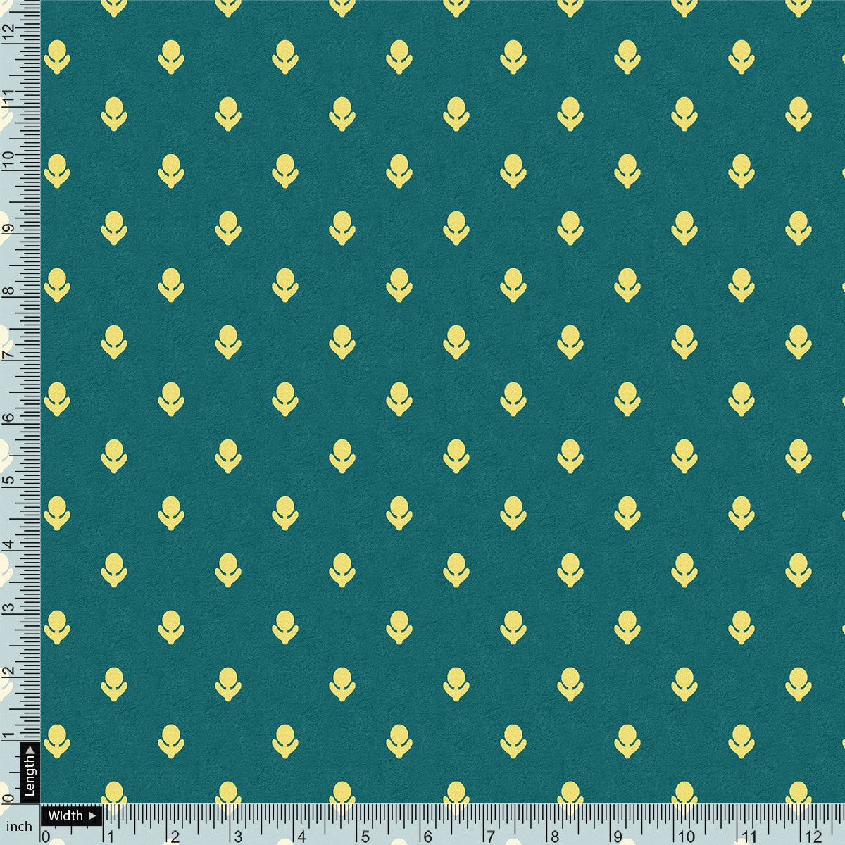 Small And Single Motif Allover Digital Printed Fabric