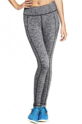 Grey Fitness Leggings with Black Stripe