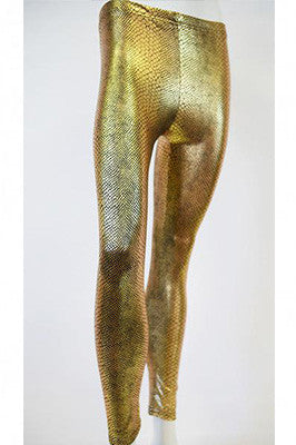 Golden Snake Scales Leggings
