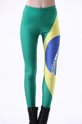 Brazil Flag Spandex Leggings