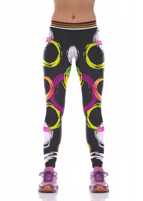 Colorful Circle Yoga Leggings
