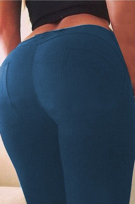 Denim Blue Butt Lifting Leggings
