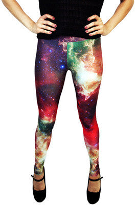 Deep Red Galaxy Leggings