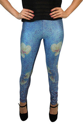 Either Orchid Flower Leggings