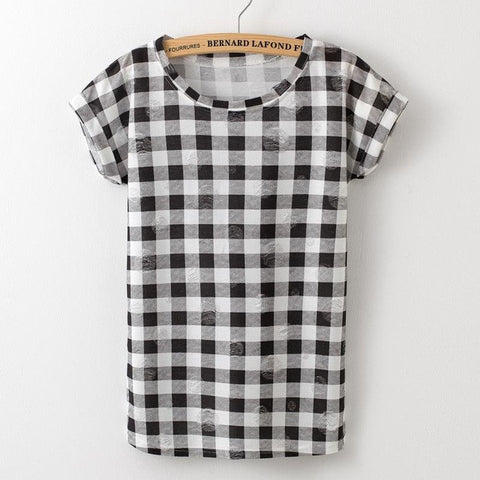 Gingham With a Twist Tee