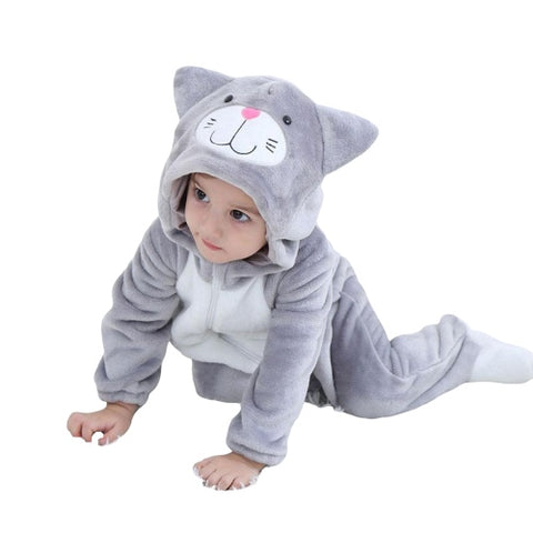 Pyjama Chat Gris Bébé | Kigurumi Party